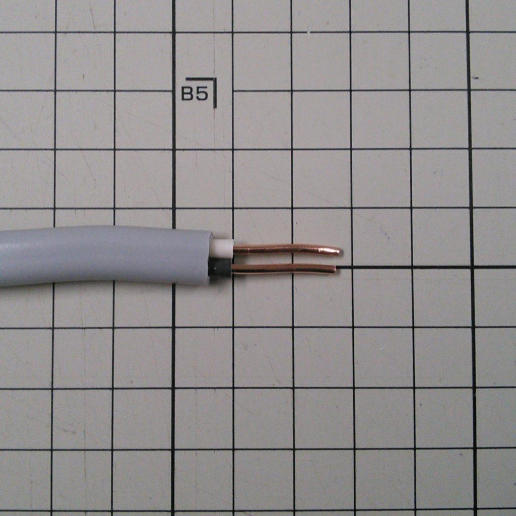 絶縁被覆2mm剥取り